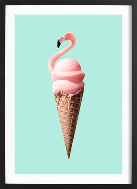 Flamingo Cone ingelijste print