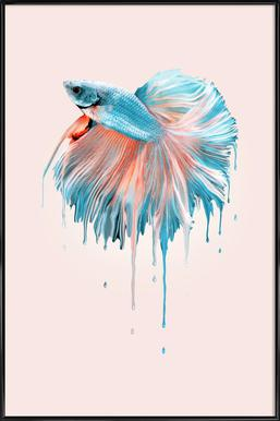 Melting Fish Framed Poster