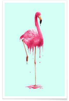 Melting Flamingo Poster