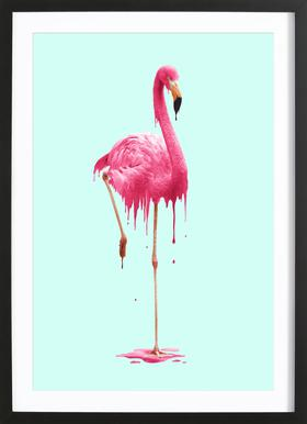 Melting Flamingo Framed Print