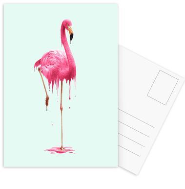 Melting Flamingo Postcard Set