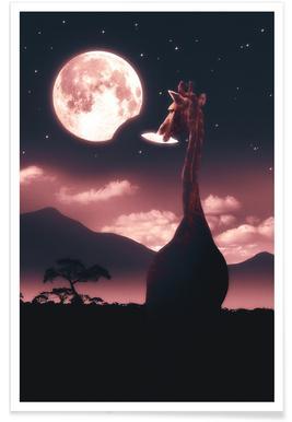 Tasty Moon Poster