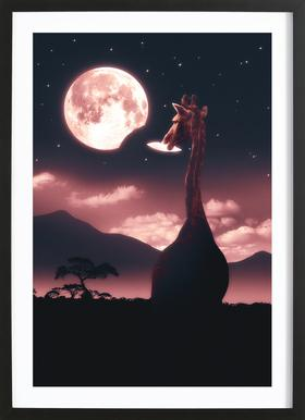 Tasty Moon Framed Print