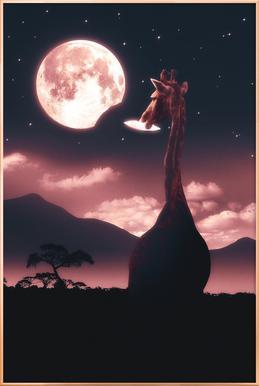 Tasty Moon Poster in Aluminium Frame