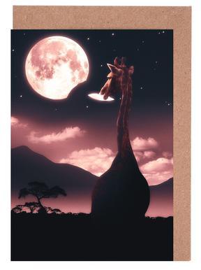 Tasty Moon Greeting Card Set