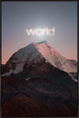 World Framed Poster
