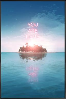 You Are Here Framed Poster