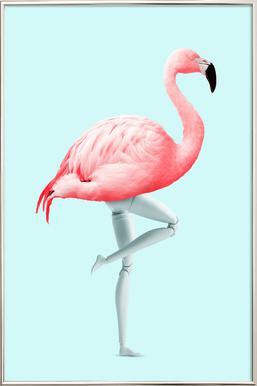 Flamingo Mannequin poster in aluminium lijst