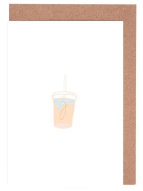 Iced Latte Gratulationskort i satt