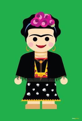 Frida Kahlo Toy Acrylic Print