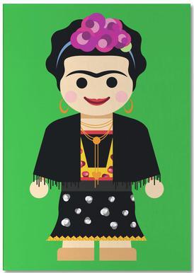 Frida Kahlo Toy -Notizblock