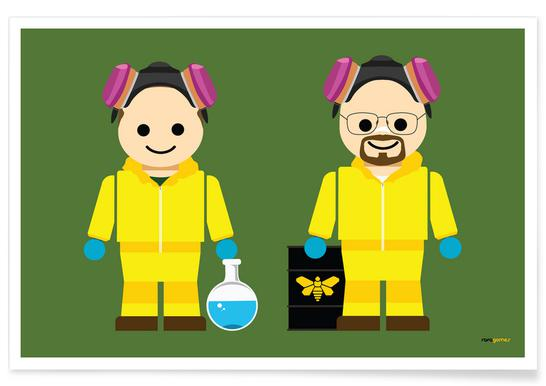 Pinkman and Heisenberg Toy -Poster