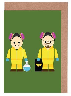 Pinkman and Heisenberg Toy Greeting Card Set