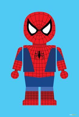Spiderman Toy alu dibond