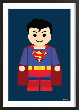 Superman Toy Framed Print