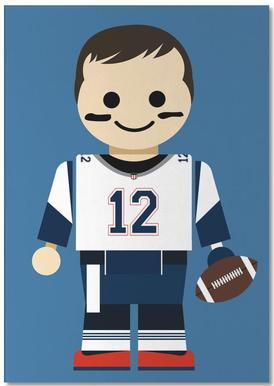 Tom Brady Toy Notepad