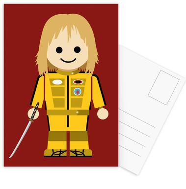 Kill Bill Toy Postcard Set