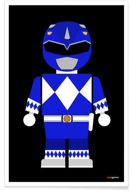 Power Ranger Toy Blue poster