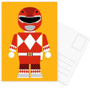 Power Ranger Toy Red -Postkartenset