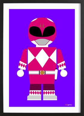 Power Ranger Toy Pink ingelijste print