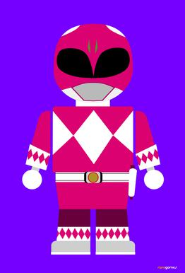 Power Ranger Toy Pink alu dibond