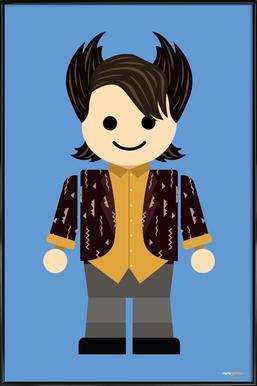 Chandler Bing Toy ingelijste poster