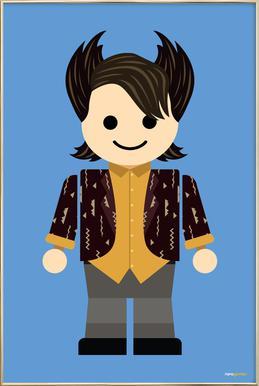 Chandler Bing Toy poster in aluminium lijst