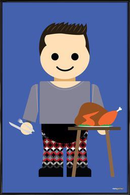 Joey Tribbiani Toy Framed Poster