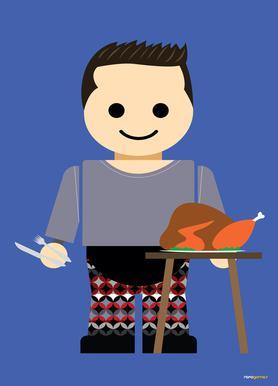 Joey Tribbiani Toy canvas doek