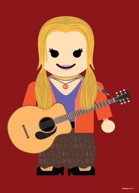 Phoebe Buffay Toy canvas doek