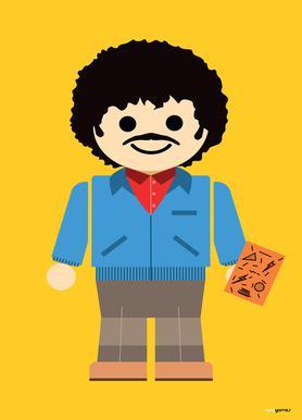 Ross Geller Toy canvas doek