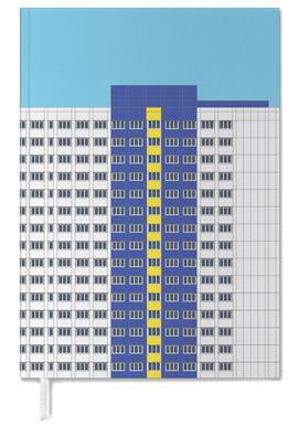 Plattenbau Blau -Terminplaner