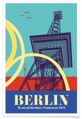 Berlin Funkturm Poster