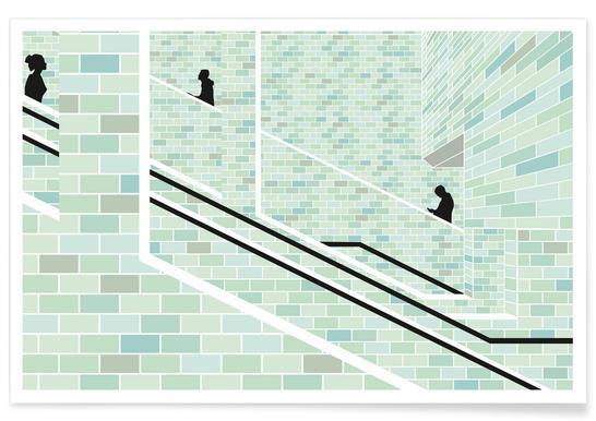 Alexanderplatz Underground Poster