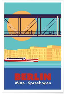 Berlin Spreebogen poster