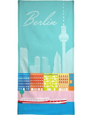 Berlin in Sicht Beach Towel