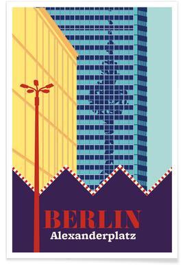 Berlin Alexanderplatz Markt Poster
