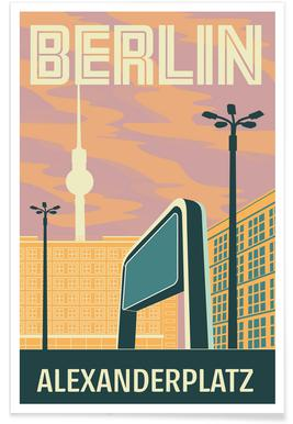 Berlin Alexanderplatz Sonnenuntergang Poster