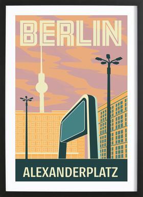 Berlin Alexanderplatz Sonnenuntergang Framed Print