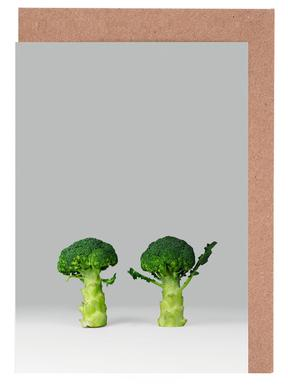 Arguing Broccolis Greeting Card Set