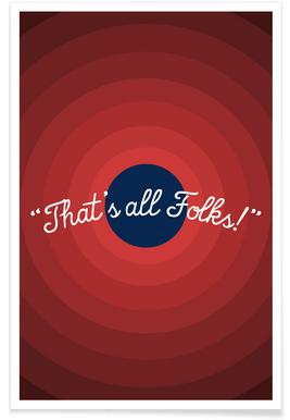 That's All Folks Poster
