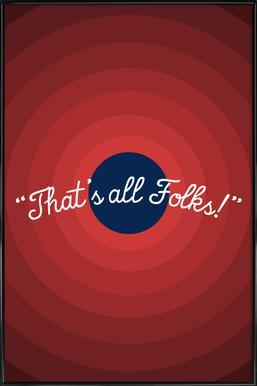 That's All Folks Framed Poster