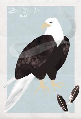 Spirit Animal - Eagle Aluminium Print