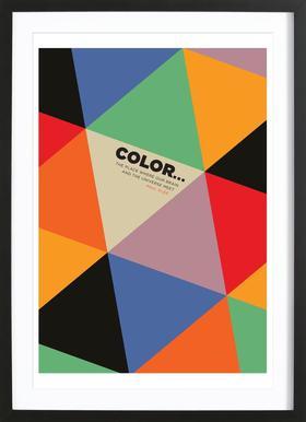 Harlequin Klee - Poster im Holzrahmen