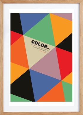 Harlequin Klee - Poster in Wooden Frame
