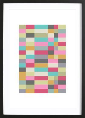 Bauhaus 1 - Poster im Holzrahmen