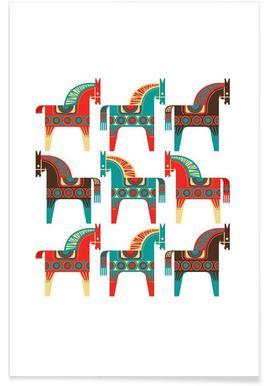 Dala Horses 1 - Premium poster