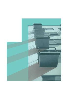 Bauhaus Blue Balconies Canvas Print
