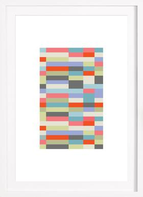 Bauhaus 3 - Poster in Wooden Frame