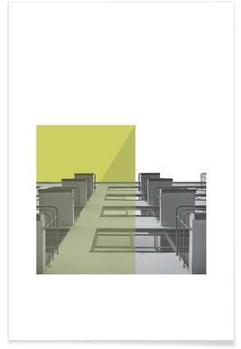 Bauhaus Green Balconies Poster